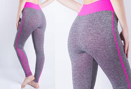 Sporty legging nu super voordelig | Comfortabel sporten in stijl! Stijl B - Fuchsia