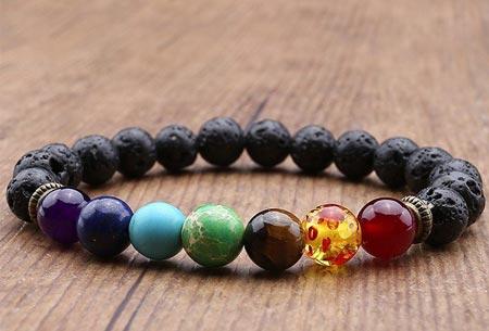 Chakra armbanden | Krijg nieuwe energie en kom in balans Zwart lava