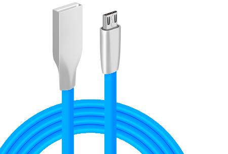 'Onbreekbare' oplaadkabel | Ultra sterke kabel voor Lightning of Micro USB blauw