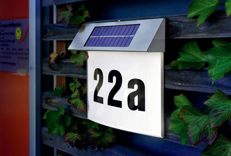 RVS LED huisnummer | Werkt op zonne-energie