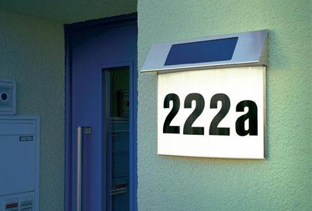 RVS LED huisnummer