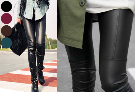 Urban legging met leather look | Hip mode-item voor elke garderobe