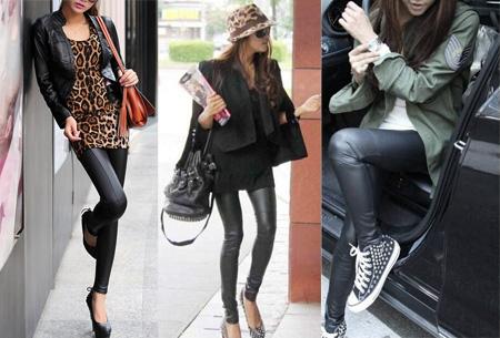 Urban legging met leather look | Hip mode-item voor elke garderobe