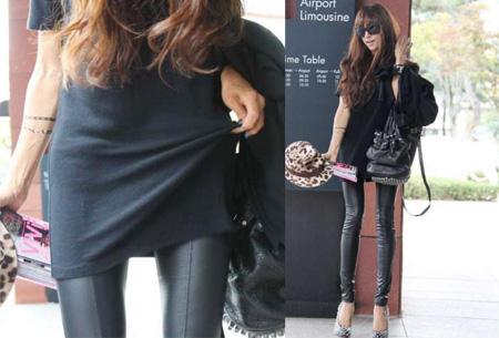 Urban legging met leather look   Hip mode-item voor elke garderobe