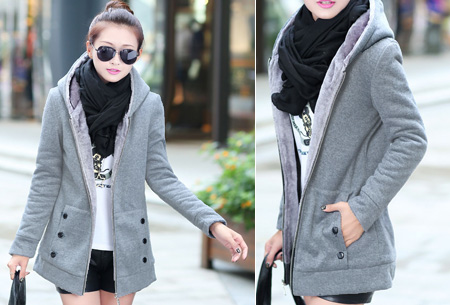 Vest met fleece binnenvoering   Heerlijk warm de winter door!  Grijs