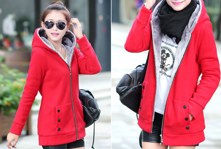 Vest met fleece binnenvoering   Heerlijk warm de winter door!  Rood