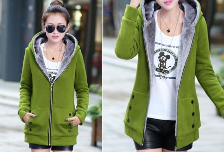 Vest met fleece binnenvoering   Heerlijk warm de winter door!  Groen