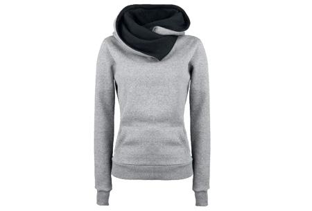 Fleece sweater | Comfy sweater met zachte fleece binnenzijde Grijs