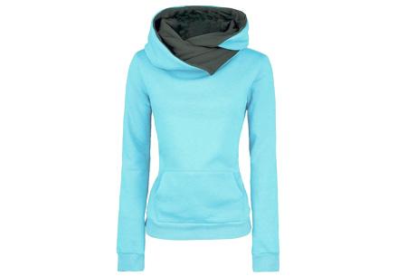 Fleece sweater | Comfy sweater met zachte fleece binnenzijde Blauw