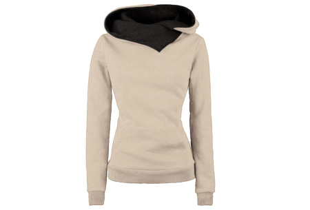 Fleece sweater | Comfy sweater met zachte fleece binnenzijde Khaki