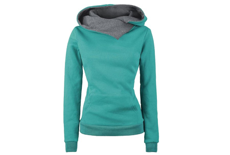 Fleece sweater | Comfy sweater met zachte fleece binnenzijde Groen