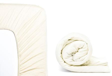 Molton hoeslaken en/of duopack Jersey hoeslakens | Topkwaliteit voor een spotprijs! Crème