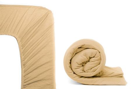 Molton hoeslaken en/of duopack Jersey hoeslakens | Topkwaliteit voor een spotprijs! Zand