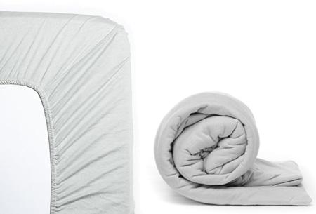 Molton hoeslaken en/of duopack Jersey hoeslakens | Topkwaliteit voor een spotprijs! Zilvergrijs