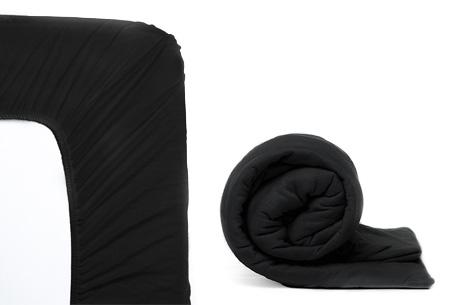 Molton hoeslaken en/of duopack Jersey hoeslakens | Topkwaliteit voor een spotprijs! Zwart