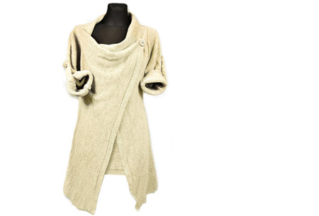 Knitted overslagvest | Trendy & comfortabel! khaki