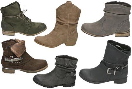 Mega uitverkoop: enkellaarsjes, laarsjes en overknee laarzen