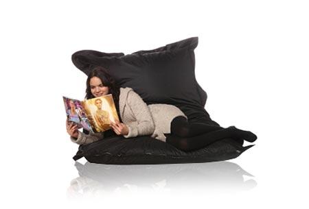 Drop & Sit zitzak | Keuze uit 18 kleuren & 2 formaten - nu extra voordelig! Zwart