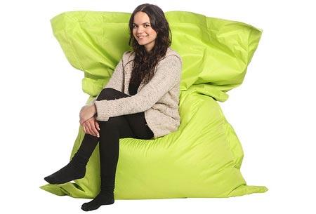 Drop & Sit zitzak | Keuze uit 18 kleuren & 2 formaten - nu extra voordelig! Lime groen
