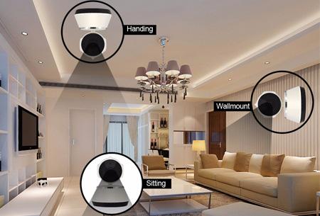 Smart WiFi IP camera | Houd alles live in de gaten en bestuur op afstand