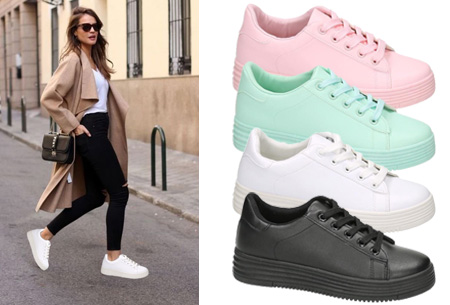 Leather look sneaker