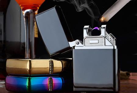 Klassieke aansteker   Oplaadbaar via USB zonder brandstof