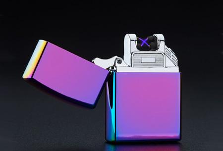 Klassieke aansteker   Oplaadbaar via USB zonder brandstof Multicolor