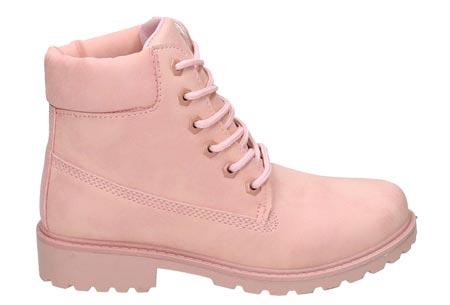 Adventurous boots | Stoere & stijlvolle enkellaarsjes Lichtroze