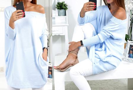 Gorgeous sweater dress | Deze beauty mag niet ontbreken in jouw garderobe! Blauw
