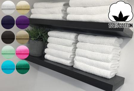 Hotel handdoeken of badhanddoeken pakketten 100% katoen | Keuze uit 10 kleuren