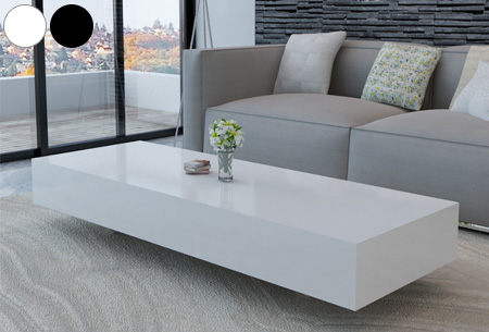 hoogglans salontafel voor een stijlvolle moderne uitstraling in elk interieur