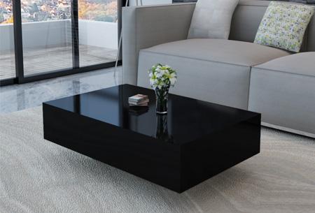 hoogglans salontafel voor een stijlvolle moderne uitstraling in elk interieur zwart 85