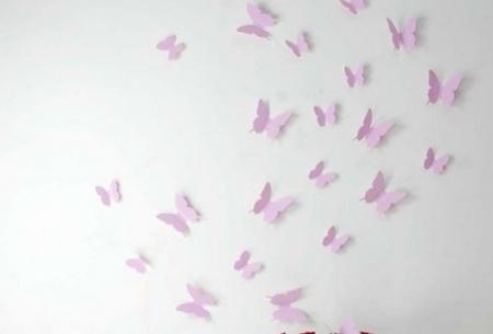 3D vlinder muurstickers in 13 kleuren   Leuke wandversiering