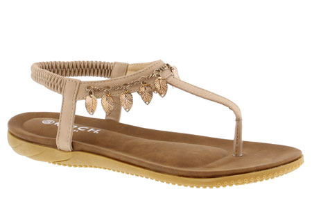 Ibiza feather slippers - 40 - Beige