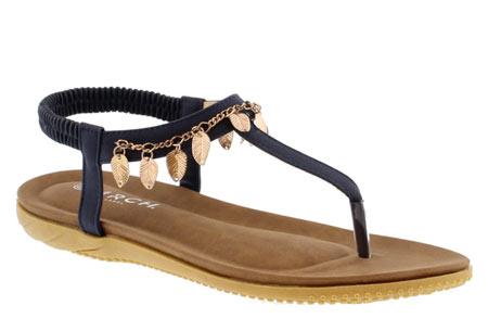 Ibiza feather slippers | De leukste en hipste slippers voor de zomer Donkerblauw