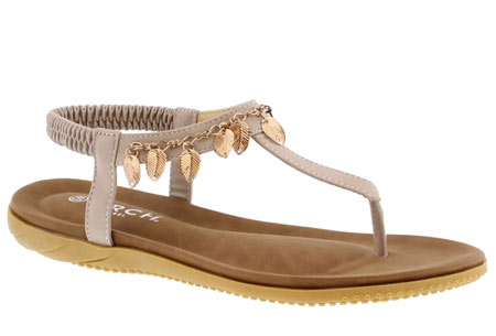 Ibiza feather slippers - 39 - Lichtgrijs