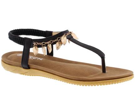 Ibiza feather slippers | De leukste en hipste slippers voor de zomer Zwart