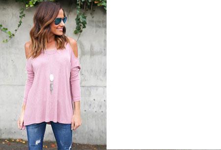 Over my shoulder top | Verkrijgbaar in 5 prachtige kleuren Roze