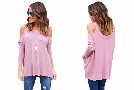 Over my shoulder top | Verkrijgbaar in 5 prachtige kleuren