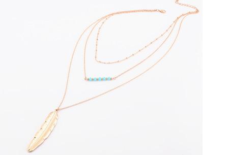 Multilayer kettingen voor een spotprijs | Hip sieraad met meerdere kettingen in één E - goud
