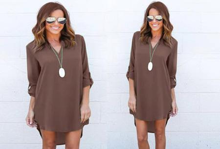 Stylish blouse | Een stijlvolle musthave voor elke dames garderobe! Coffee