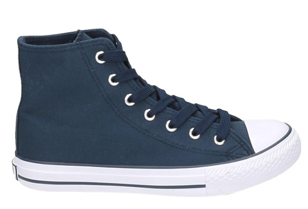 Classic sneakers voor hem en haar | Hoog of laag model - voor de maten 36 t/m 46 Blauw - Hoog