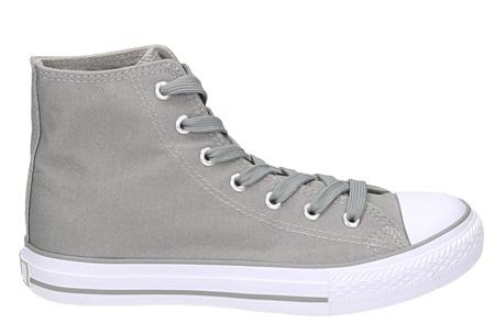 Classic sneakers voor hem en haar | Hoog of laag model - voor de maten 36 t/m 46 Grijs - Hoog