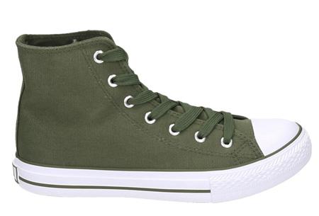Classic sneakers voor hem en haar | Hoog of laag model - voor de maten 36 t/m 46 Groen - Hoog