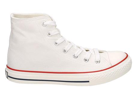 Classic sneakers voor hem en haar | Hoog of laag model - voor de maten 36 t/m 46 Wit - Hoog