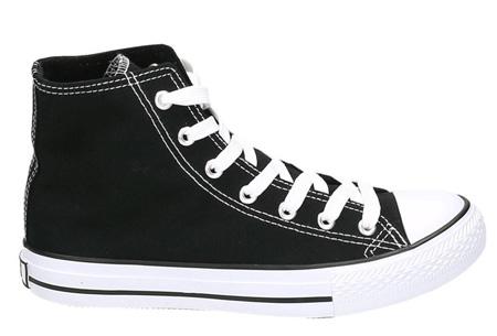 Classic sneakers voor hem en haar | Hoog of laag model - voor de maten 36 t/m 46 Zwart - Hoog