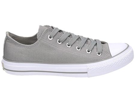 Classic sneakers voor hem en haar | Hoog of laag model - voor de maten 36 t/m 46 Grijs - Laag