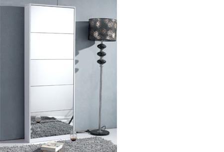 Schoenenkast met spiegel en korting | Stijlvol, praktisch en overzichtelijk! wit XL