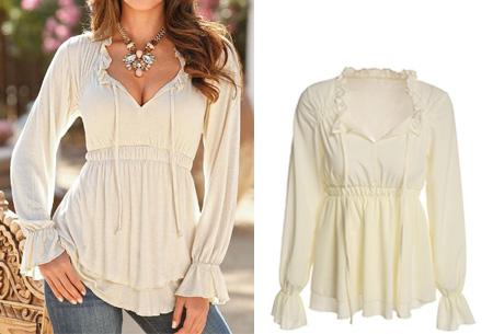 witte bohemian blouse