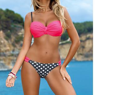 Lovely beach bikini | Met deze bikini ben jij ready voor de zomer! Fuchsia dots